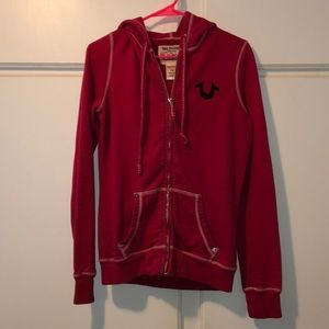 True Religion sweatshirt. Dark pink . Medium